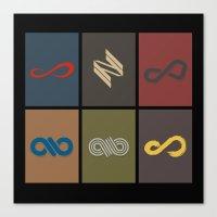 infinite Canvas Prints featuring Infinite by Sara Eshak