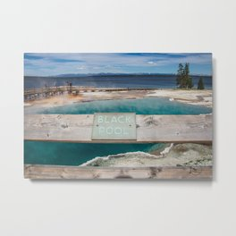 Black Pool, West Thumb Geyser Basin, Yellowstone National Park Metal Print
