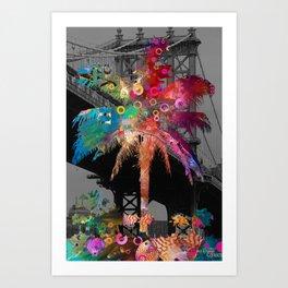 Palm Tree in New York Art Print