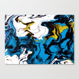 Dreamscape 01 in Blue, White & Gold Canvas Print