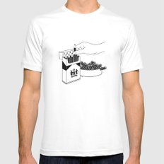 Art Addiction White LARGE Mens Fitted Tee