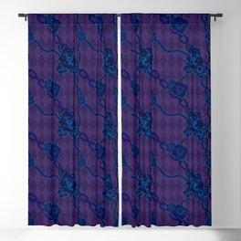 Thorny Rose Vines with Chains Blackout Curtain