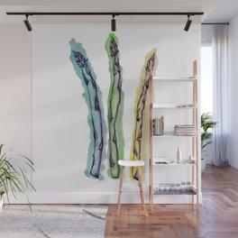 Asparagus Watercolor Print Wall Mural