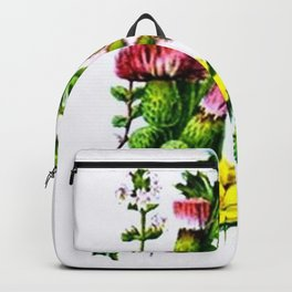 Vintage Wildflowers Thistle Backpack