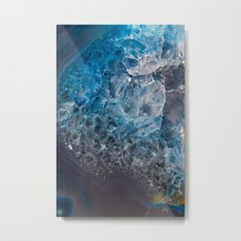 An Ocean in Stone Metal Print