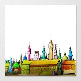 fabulous city painted Canvas Print