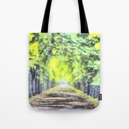 Forest Path Watercolour Tote Bag