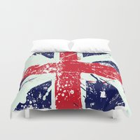 union jack Duvet Covers featuring Union Jack  by UrbanCandy