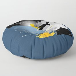Nation Will Rise Against Nation Floor Pillow