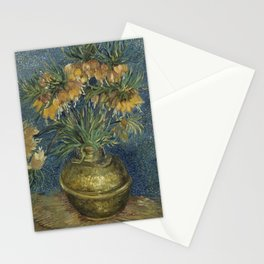 Crown Imperials in a Copper Vase Stationery Cards