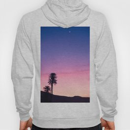 Sunrise Moon and Star over the Moroccan Desert Hoody