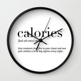 Calories definition Wall Clock