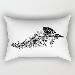 wild flower: digitalis purpurea Rectangular Pillow