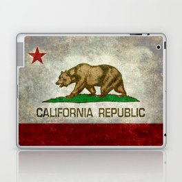 California Republic state flag Vintage Laptop & iPad Skin