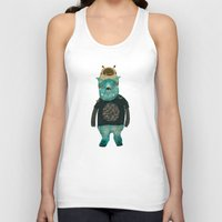 cookie Tank Tops featuring cookie and big blue by bri.buckley