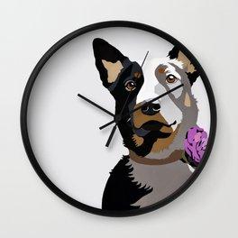 Jasper in purple Wall Clock