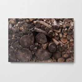 The Old Wood Pile Metal Print