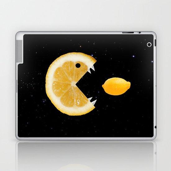 Funny Lemon Eats lemon Laptop & iPad Skin