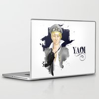 yaoi Laptop & iPad Skins featuring Yaoi by Noemí duVallon