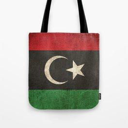Old and Worn Distressed Vintage Flag of Libya Tote Bag