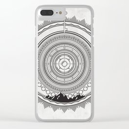 LS Mountain Mandala Clear iPhone Case