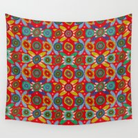 aztec Wall Tapestries featuring Aztec by Helene Michau