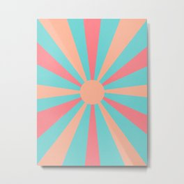 pink and peach sunshine Metal Print