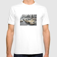 New York City Taxi 03 White MEDIUM Mens Fitted Tee