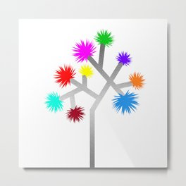 Joshua Tree Pom Poms by CREYES Metal Print