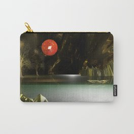 3d Modeling Cave Lake with Red Sun Carry-All Pouch