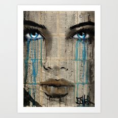 CRYSTAL BLUE Art Print