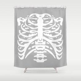 Human Rib Cage Pattern Gray 2 Shower Curtain