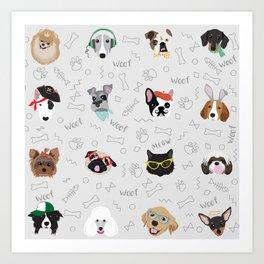 Polka Pets Art Print
