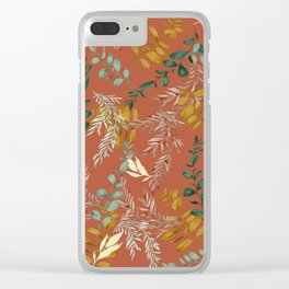 Floral autumn pattern Clear iPhone Case