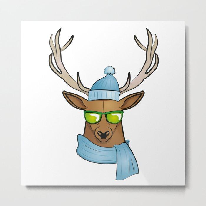 cool stag Metal Print
