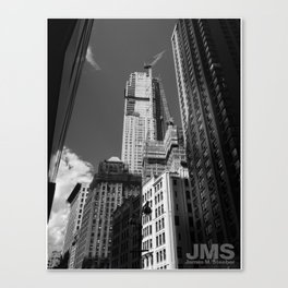 Looking Way Up on Broadway Canvas Print