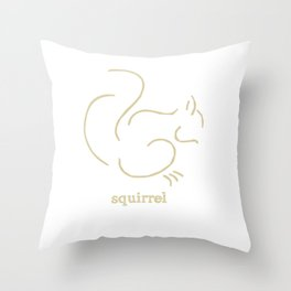 Squirell Throw Pillow