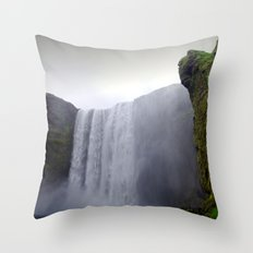 skogafoss waterfall, iceland. Throw Pillow