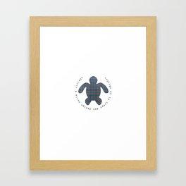 denim wv tortue de galle Framed Art Print