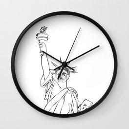 America Statue of Liberty USA Wall Clock