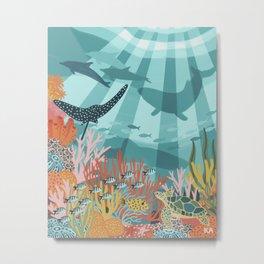 Sunny Sea Garden Metal Print