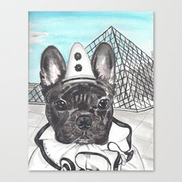 Roscoe the French Clown Canvas Print
