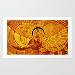 Loop and stripe fractal world Art Print