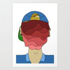 Face Melt Art Print