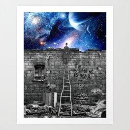 STREET-ART SPACE Art Print