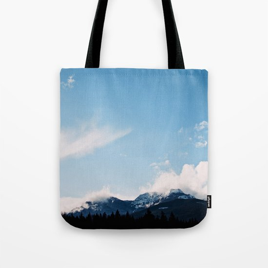 Clouds over the Mountains Tote Bag