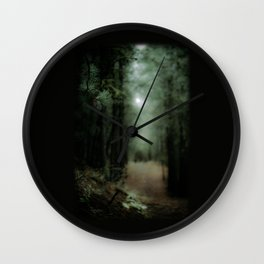 In the forest of Washington state, ponderosa pine trees   Wall Clock
