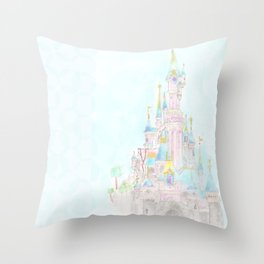 Castle of Sleeping beauty Throw Pillow