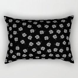 Dark Gray Clover Rectangular Pillow