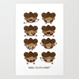 Chestnut Girl Mood Art Print
